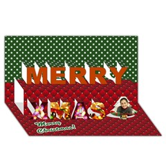 Merry Xmas 3D Greeting Card (8x4) Icon