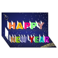 Happy New Year 3D Greeting Card (8x4) Icon