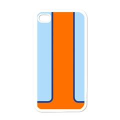 Gulf No Logo White Apple Iphone 4 Case