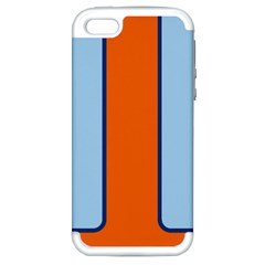 Gulf No Logo Apple Iphone 5 Hardshell Case (pc+silicone) by PocketRacers