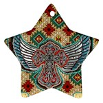 South West Leather Look Twin-sided Ceramic Ornament (Star) Front