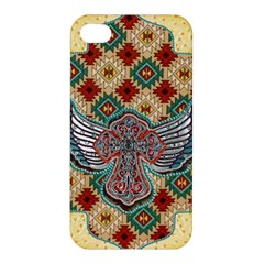 South West Leather Look Apple Iphone 4/4s Premium Hardshell Case by artattack4all