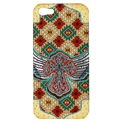 South West Leather Look Apple Iphone 5 Hardshell Case by artattack4all