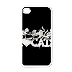 Catz White Apple Iphone 4 Case by artattack4all