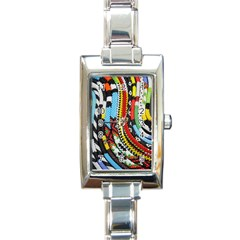 Multi Colored Beaded Background Classic Elegant Ladies Watch (rectangle) by artattack4all