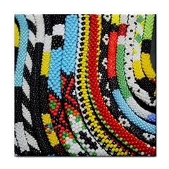 Multi Colored Beaded Background Ceramic Tile by artattack4all