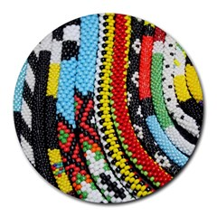 Multi Colored Beaded Background 8  Mouse Pad (round) by artattack4all