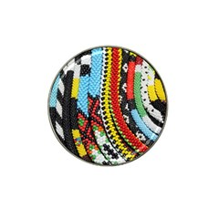 Multi Colored Beaded Background Golf Ball Marker (for Hat Clip) by artattack4all