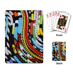 Multi Colored Beaded Background Standard Playing Cards