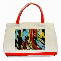 Multi Colored Beaded Background Red Tote Bag by artattack4all