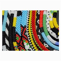 Multi Colored Beaded Background Single Sided Handkerchief by artattack4all