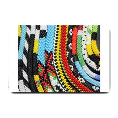 Multi Colored Beaded Background Small Door Mat by artattack4all
