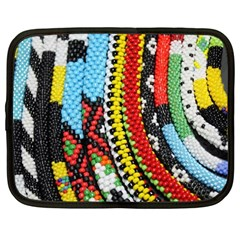 Multi Colored Beaded Background 12  Netbook Case by artattack4all