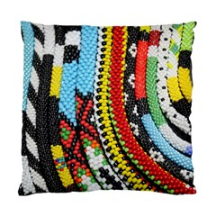 Multi Colored Beaded Background Single Sided Cushion Case by artattack4all