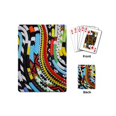 Multi Colored Beaded Background Playing Cards (mini) by artattack4all