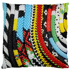 Multi Colored Beaded Background Large Cushion Case (one Side) by artattack4all