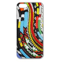 Multi Colored Beaded Background Apple Seamless Iphone 5 Case (clear) by artattack4all