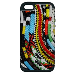 Multi Colored Beaded Background Apple Iphone 5 Hardshell Case (pc+silicone) by artattack4all