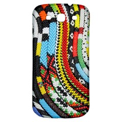 Multi Colored Beaded Background Samsung Galaxy S3 S Iii Classic Hardshell Back Case by artattack4all