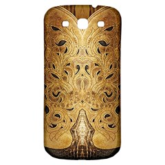 Golden Brown Tooled Faux Leather Look Samsung Galaxy S3 S Iii Classic Hardshell Back Case by artattack4all
