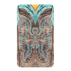 Turquoise And Gray Eagle Tooled Leather Look Memory Card Reader (rectangular)