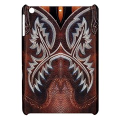 Brown And Black Tooled Leather Design Look Apple Ipad Mini Hardshell Case by artattack4all