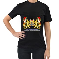 King Willem Black Womens'' T-shirt by artattack4all