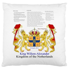 King Willem Large Cushion Case (one Side) by artattack4all