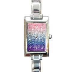 Rainbow Colored Bling Classic Elegant Ladies Watch (rectangle) by artattack4all
