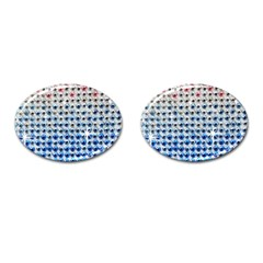 Rainbow Colored Bling Oval Cuff Links by artattack4all