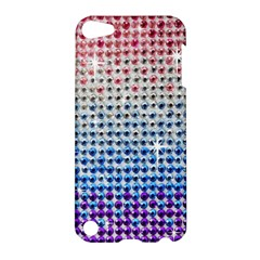 Rainbow Colored Bling Apple Ipod Touch 5 Hardshell Case by artattack4all