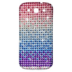 Rainbow Colored Bling Samsung Galaxy S3 S Iii Classic Hardshell Back Case by artattack4all