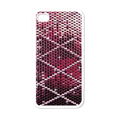 Red Glitter Bling White Apple Iphone 4 Case by artattack4all