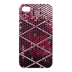 Red Glitter Bling Apple Iphone 4/4s Hardshell Case by artattack4all