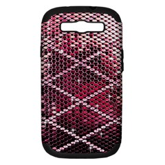 Red Glitter Bling Samsung Galaxy S Iii Hardshell Case (pc+silicone) by artattack4all