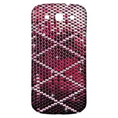 Red Glitter Bling Samsung Galaxy S3 S Iii Classic Hardshell Back Case by artattack4all