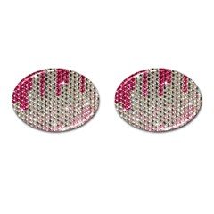 Mauve Gradient Rhinestones  Oval Cuff Links by artattack4all