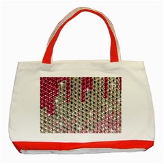 Mauve Gradient Rhinestones  Red Tote Bag by artattack4all