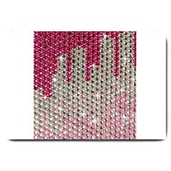 Mauve Gradient Rhinestones  Large Door Mat by artattack4all