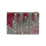 Mauve Gradient Rhinestones  Medium Makeup Purse Back