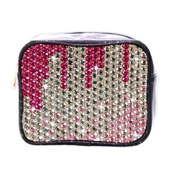 Mauve Gradient Rhinestones  Single Sided Cosmetic Case by artattack4all
