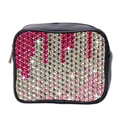 Mauve Gradient Rhinestones  Twin Sided Cosmetic Case by artattack4all