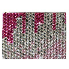 Mauve Gradient Rhinestones  Cosmetic Bag (xxl) by artattack4all