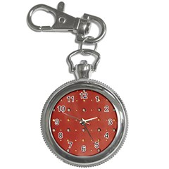 Studded Faux Leather Red Key Chain & Watch by artattack4all