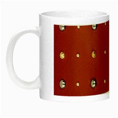 Studded Faux Leather Red Glow In The Dark Mug by artattack4all