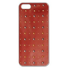 Studded Faux Leather Red Apple Seamless Iphone 5 Case (clear) by artattack4all