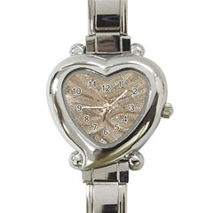 Tri Colored Bling Design Classic Elegant Ladies Watch (heart) by artattack4all
