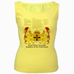 King Willem Yellow Womens  Tank Top by artattack4all