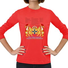 King Willem Dark Colored Long Sleeve Womens'' T Shirt by artattack4all