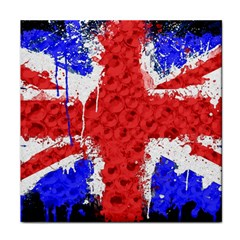 Distressed British Flag Bling Ceramic Tile by artattack4all